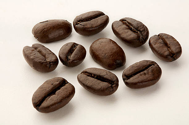 Macro coffee beans stock photo