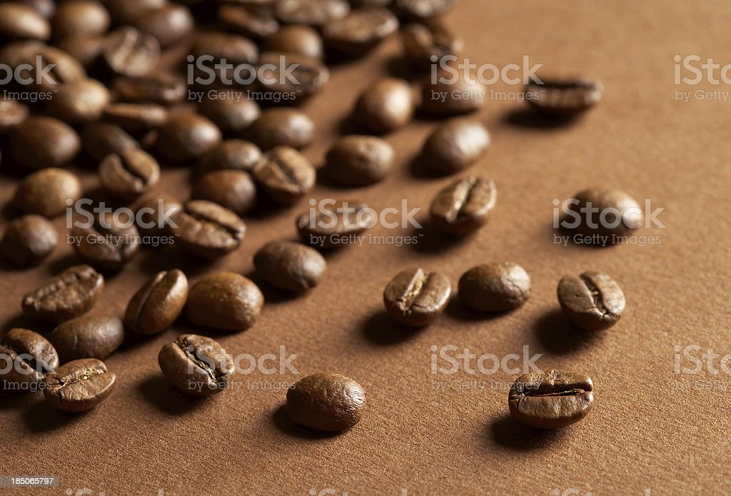 Macro coffee beans royalty-free stock photo