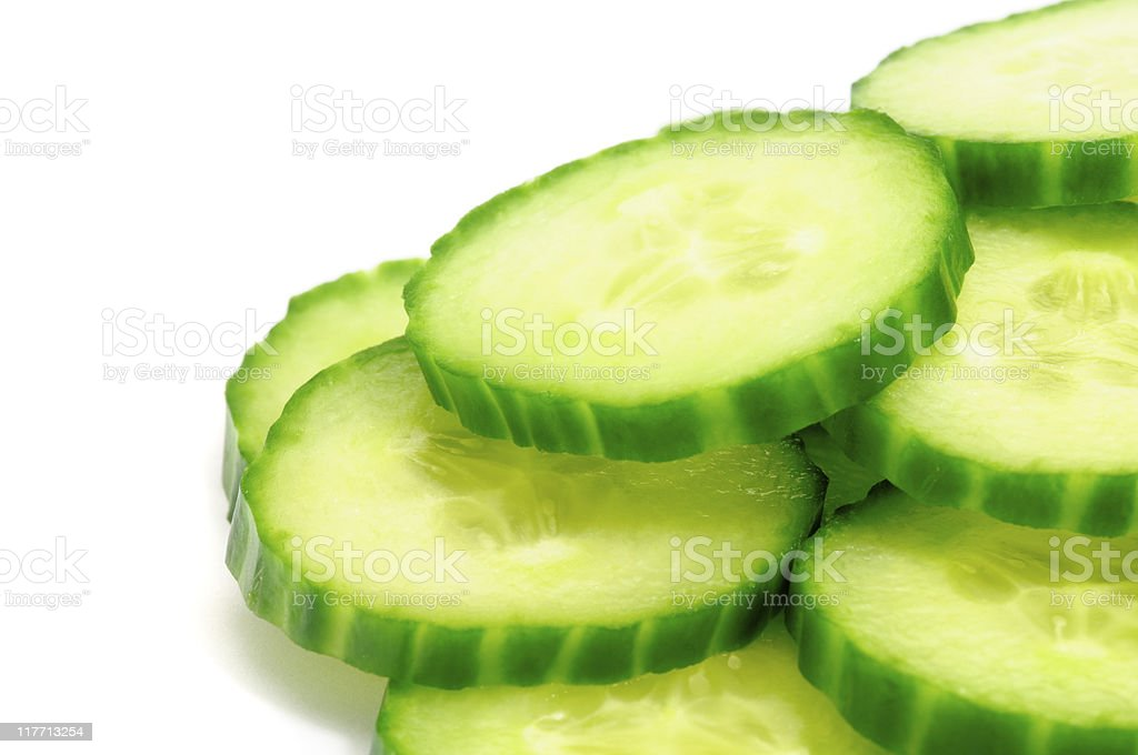 Macro Cucumbers royalty-free stock photo