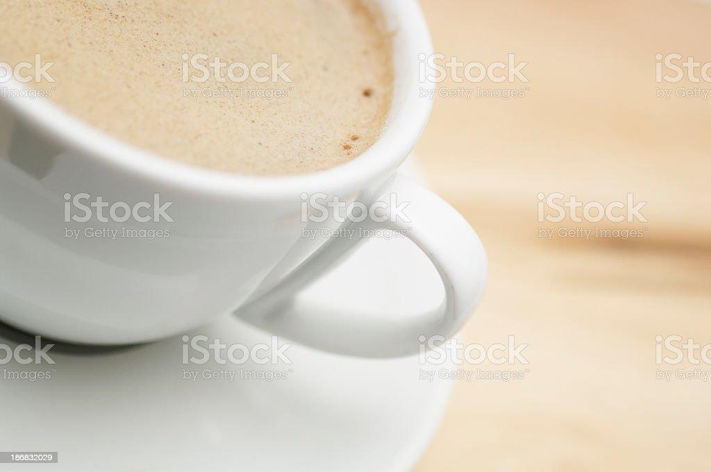 macro cup of black coffee royalty-free stock photo