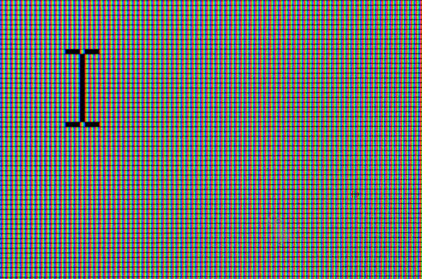 macro detail of computer text cursor on the rgb screen - cursor stock pictures, royalty-free photos & images
