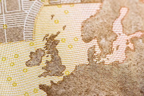 Macro detail of euro currency money banknote: 50 euro – Foto