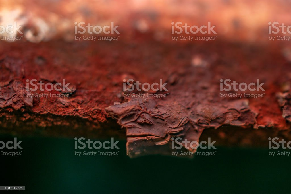 macro detail rusted iron stock photo