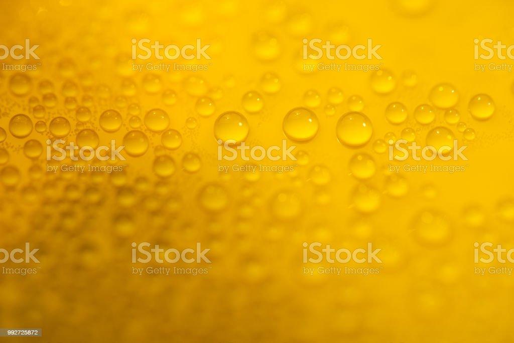 Macro Droplets on Orange stock photo