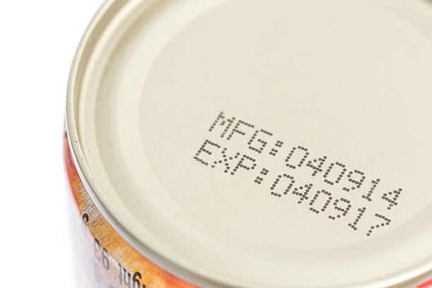macro expiration date on canned food - 過時的 舊式 個照片及圖片檔