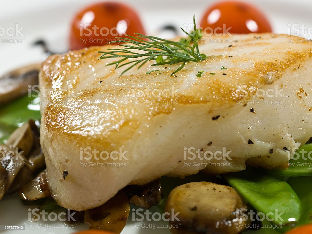 Macro Fillet of Fish royalty-free stock photo