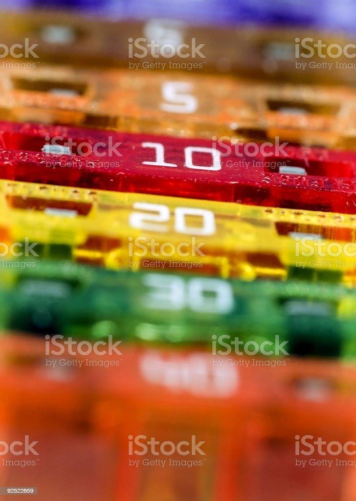 Macro Fuses stock photo