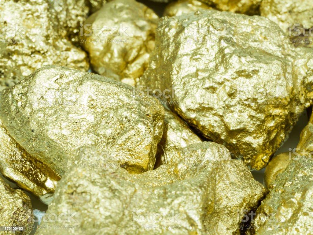 macro Gold ore from gold mine , precious stone
