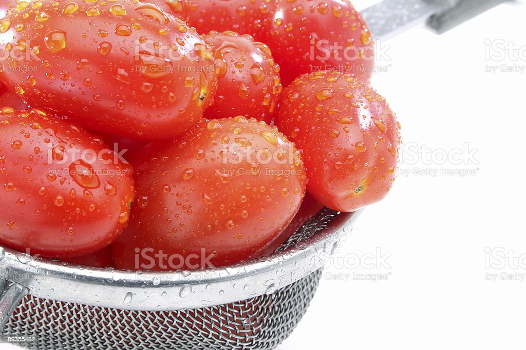Macro grape tomatoes royaltyfri bildbanksbilder