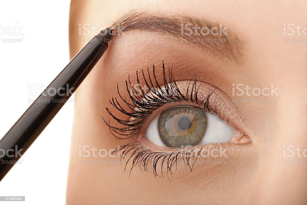 Macro green eye stock photo