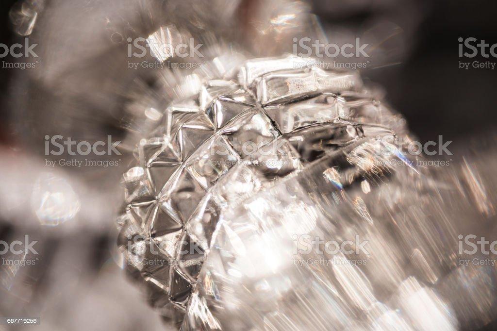 Macro ice form stock photo