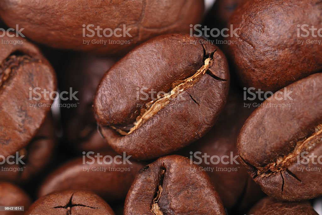 Macro image of coffee royalty-free stock photo