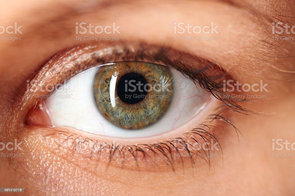 Macro image de ojo humano - foto de stock
