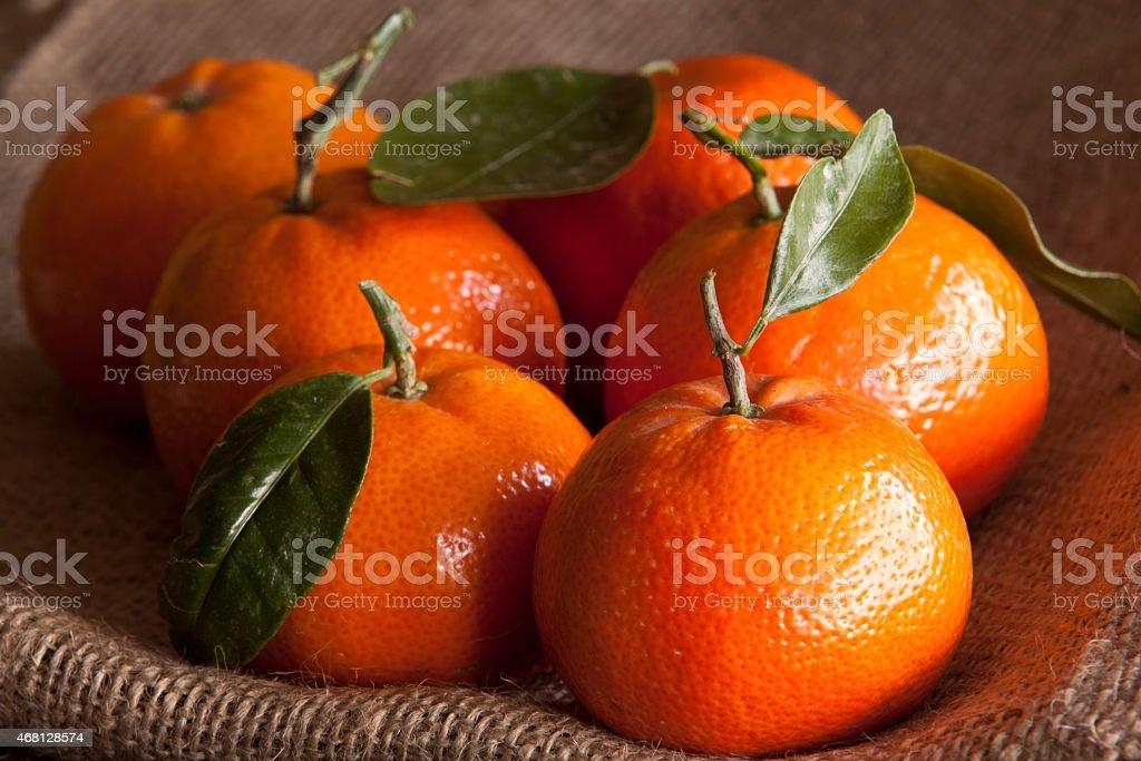 Macro Image of Mandarins stock photo