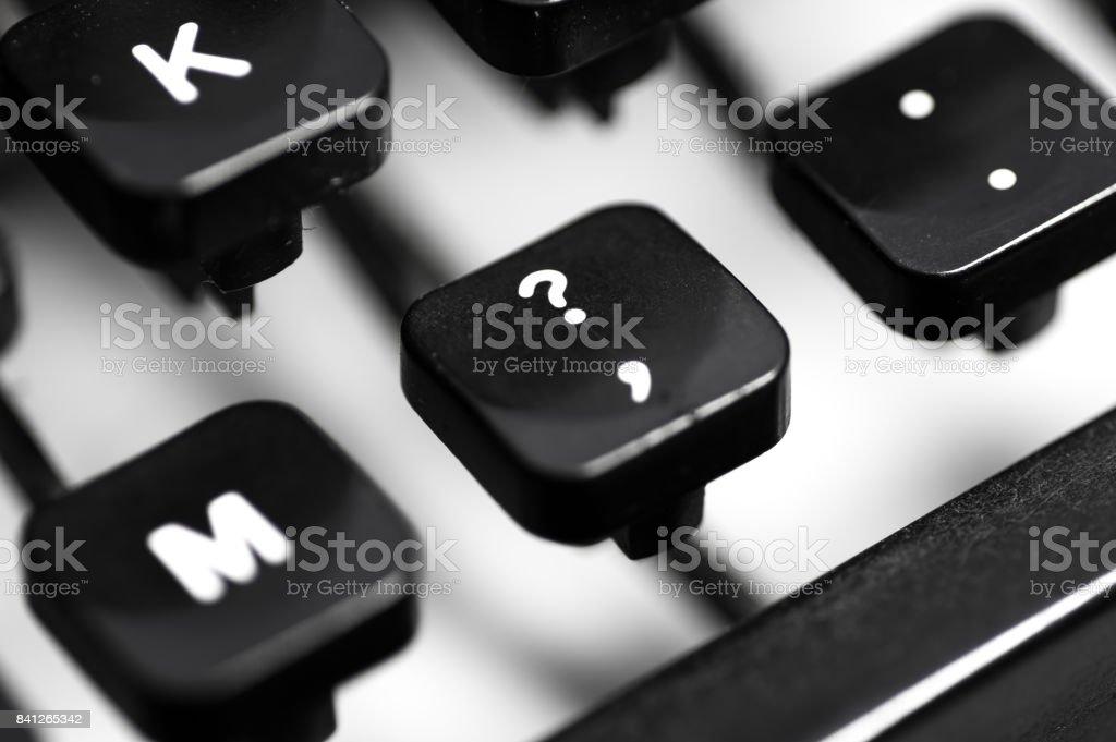 Macro image of manual typewriter keys stock photo