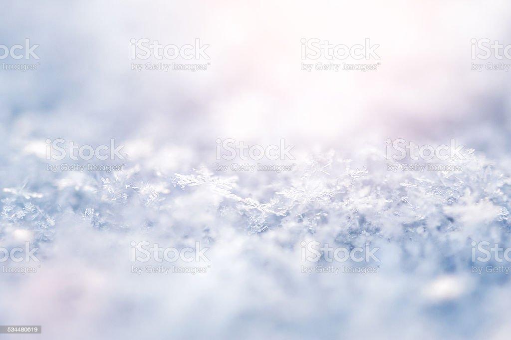Macro image of snowflakes stock photo