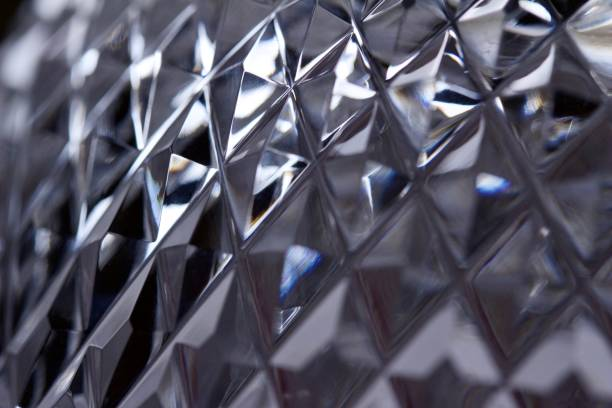 Macro Lead Crystal Facets Abstract Background stock photo