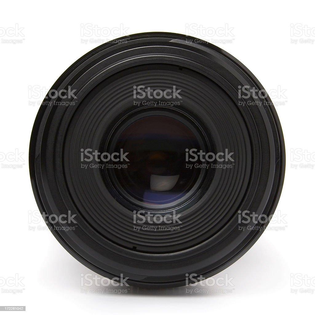 DSLR macro lens isolated stock photo