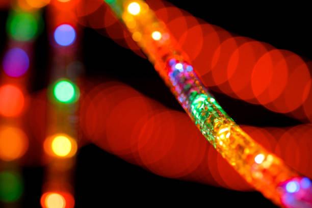 makro-leuchten - lichtschlauch stock-fotos und bilder