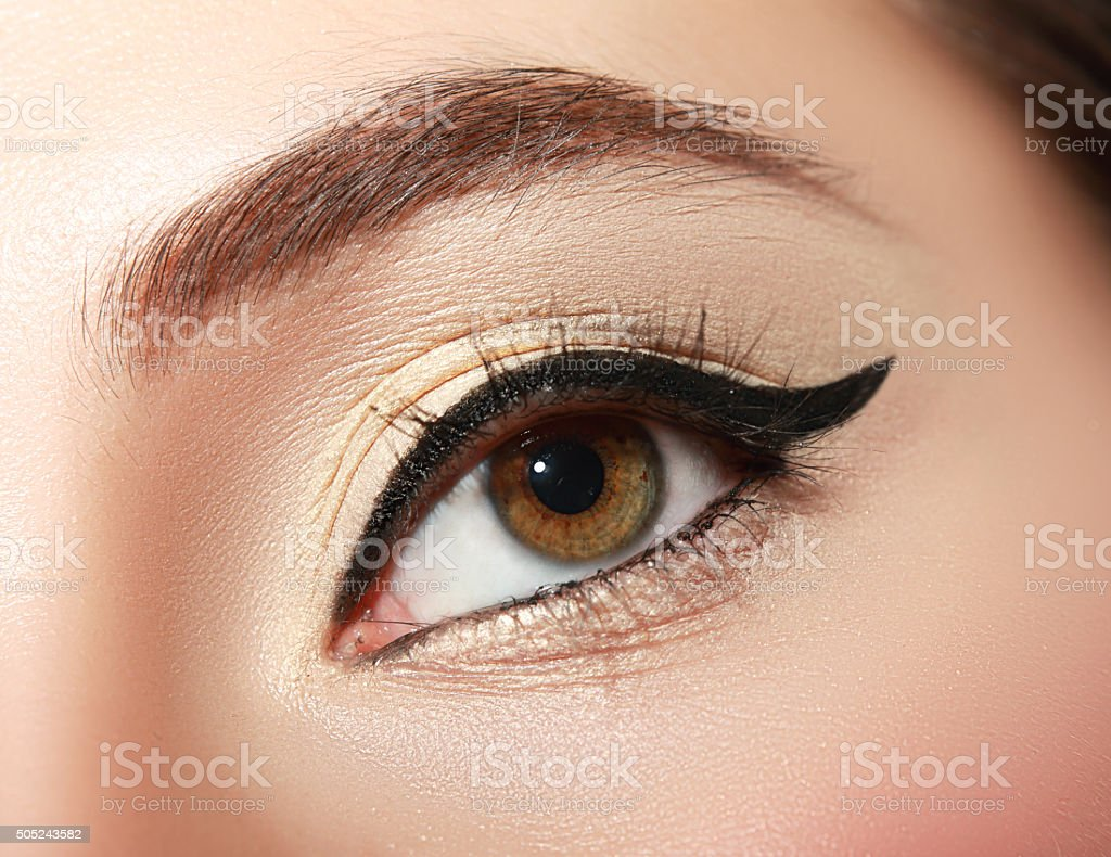 macro make up stock photo