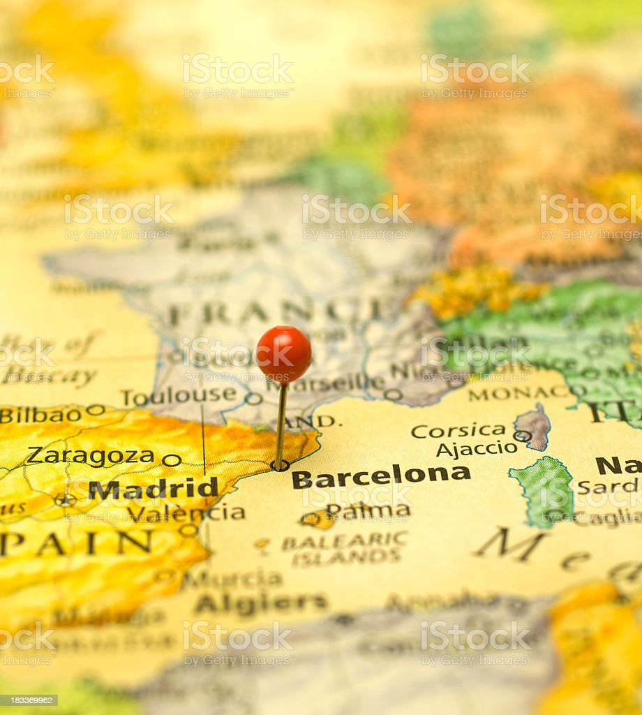 North Of Spain Map.Macro Map Of Spain France And North Africa Stock Photo More