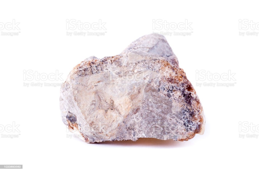 macro mineral stone hedenbergite on a white background stock photo