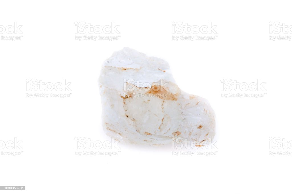 macro mineral topaz stone on a white background stock photo