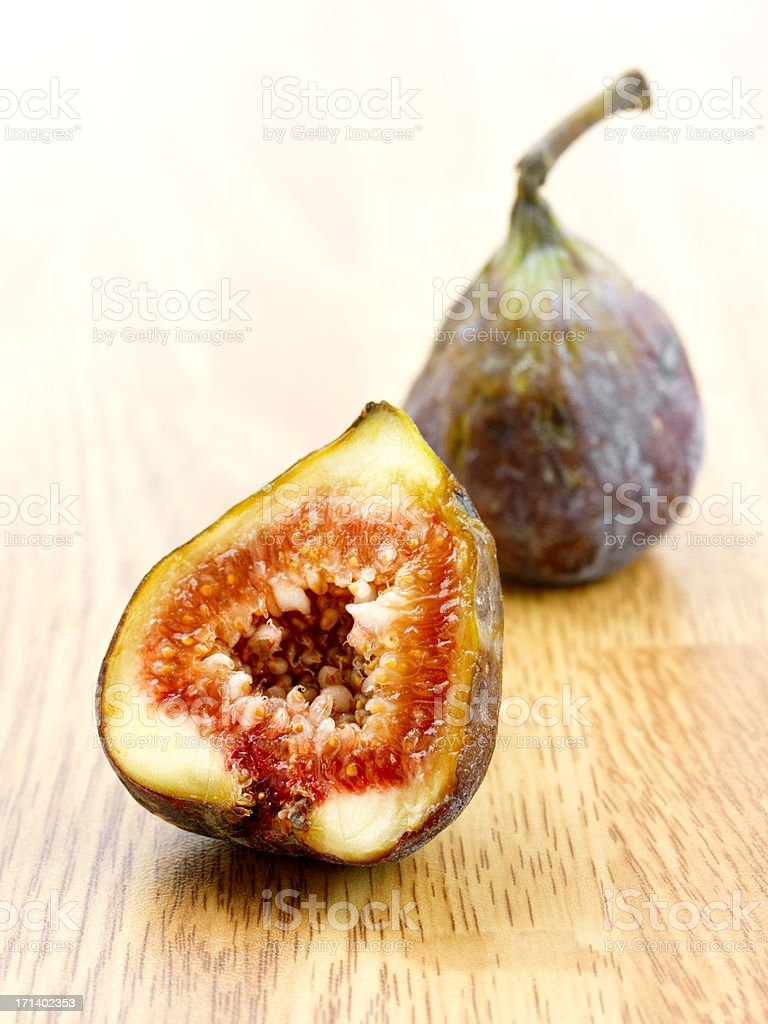 Macro of a fig royalty-free stock photo