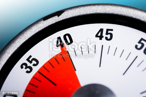 istock Macro Of A Kitchen Egg Timer - 40 Minutes 511319002