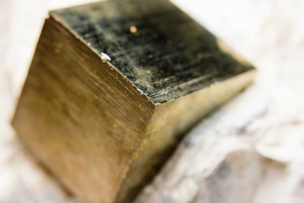Makro eines Pyritkristalls – Foto