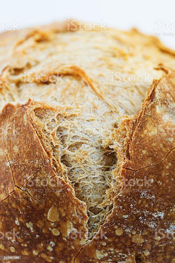 Macro of a sourdough bread stock photo