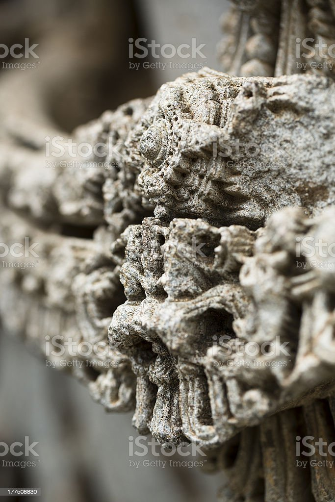 Macro of a Stone Necklass stock photo