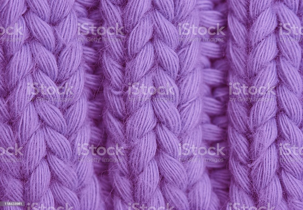 Macro of a woolen Pattern royalty-free stock photo