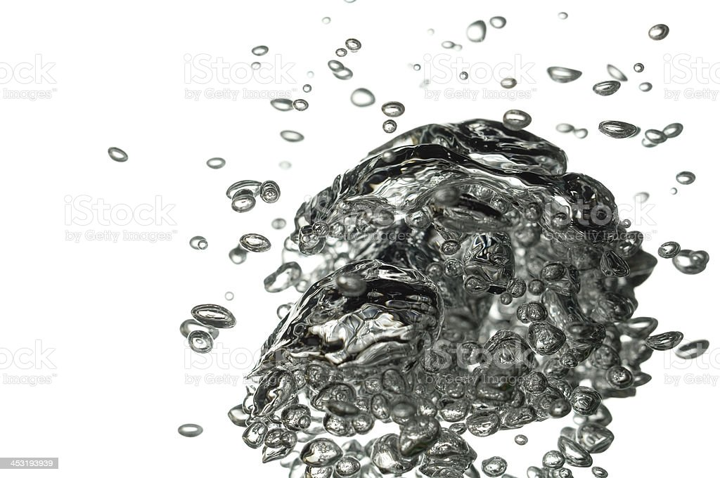 Macro of air bubbles in water royalty-free stock photo