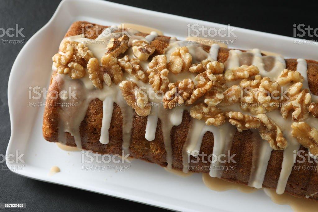 Macro Of An Apple Walnut Loaf stock photo