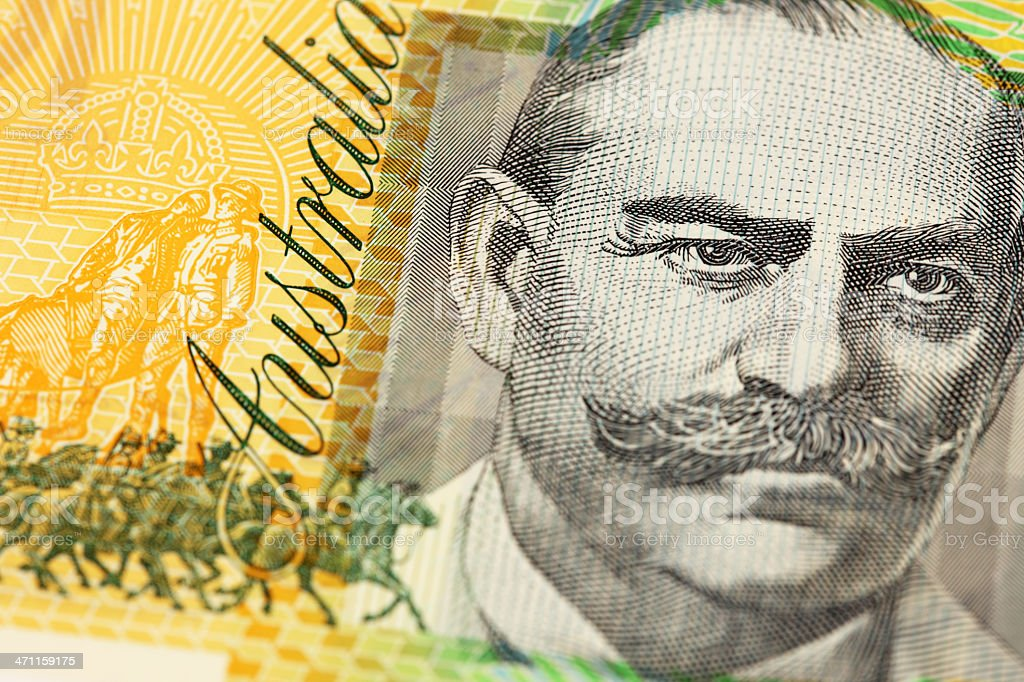 Macro of Aussie $100 Note royalty-free stock photo