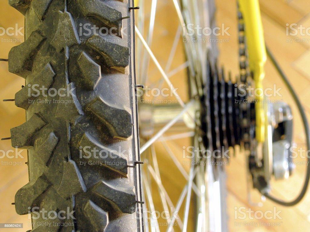 Macro of Bicycle tire stock photo