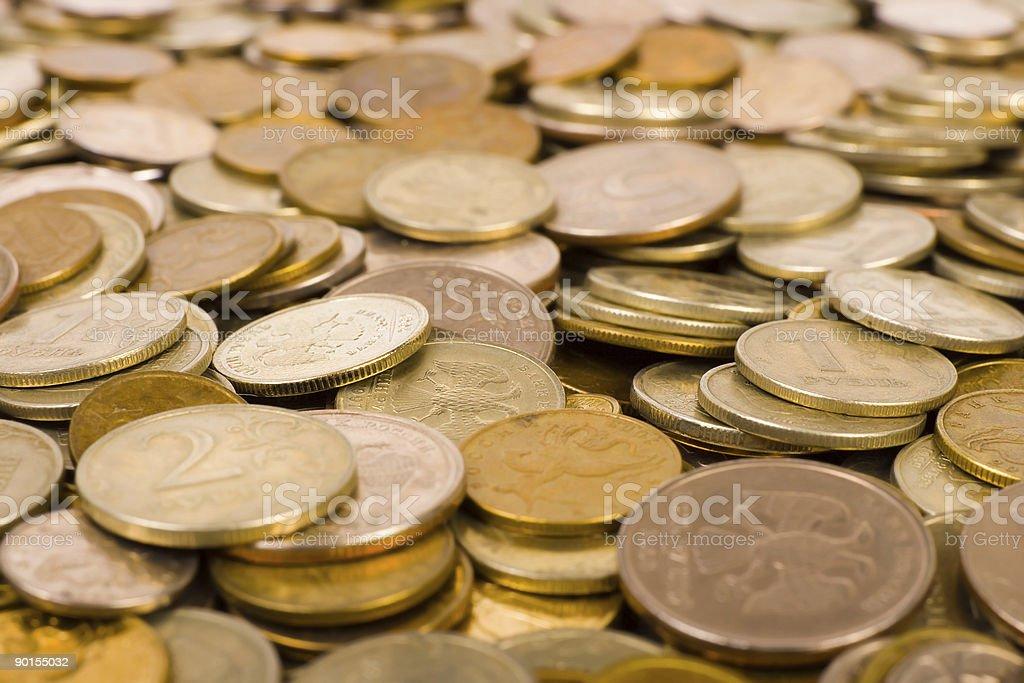 Macro of coins royalty-free stock photo