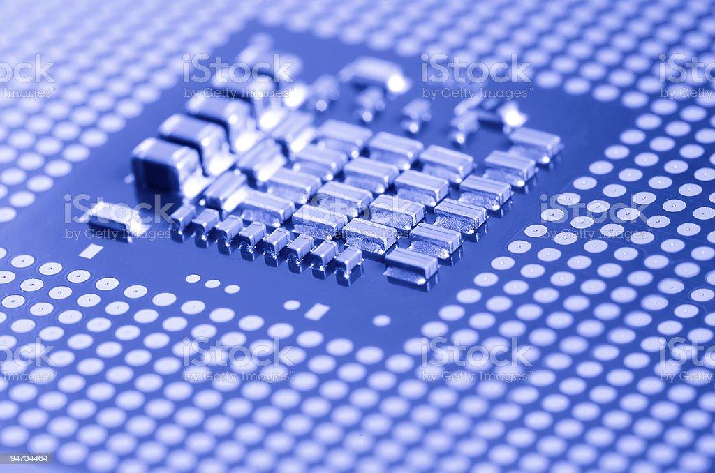 macro of cpu processor royalty-free stock photo