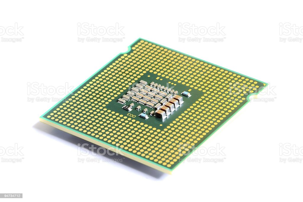 macro of cpu processor royalty-free stock photo