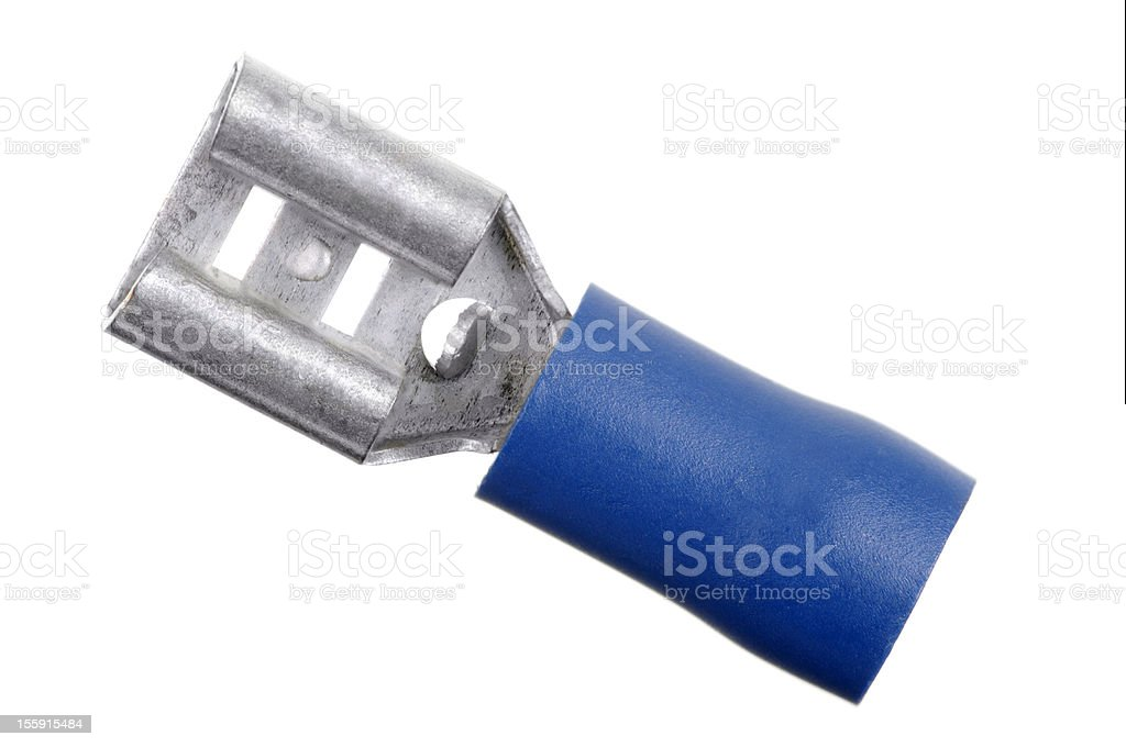 Macro Of Female Spade Connector royalty-free stock photo