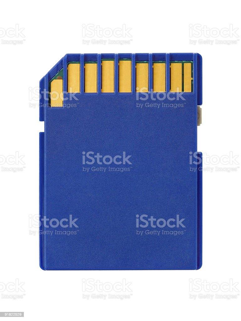 Macro of flash card royalty-free stock photo