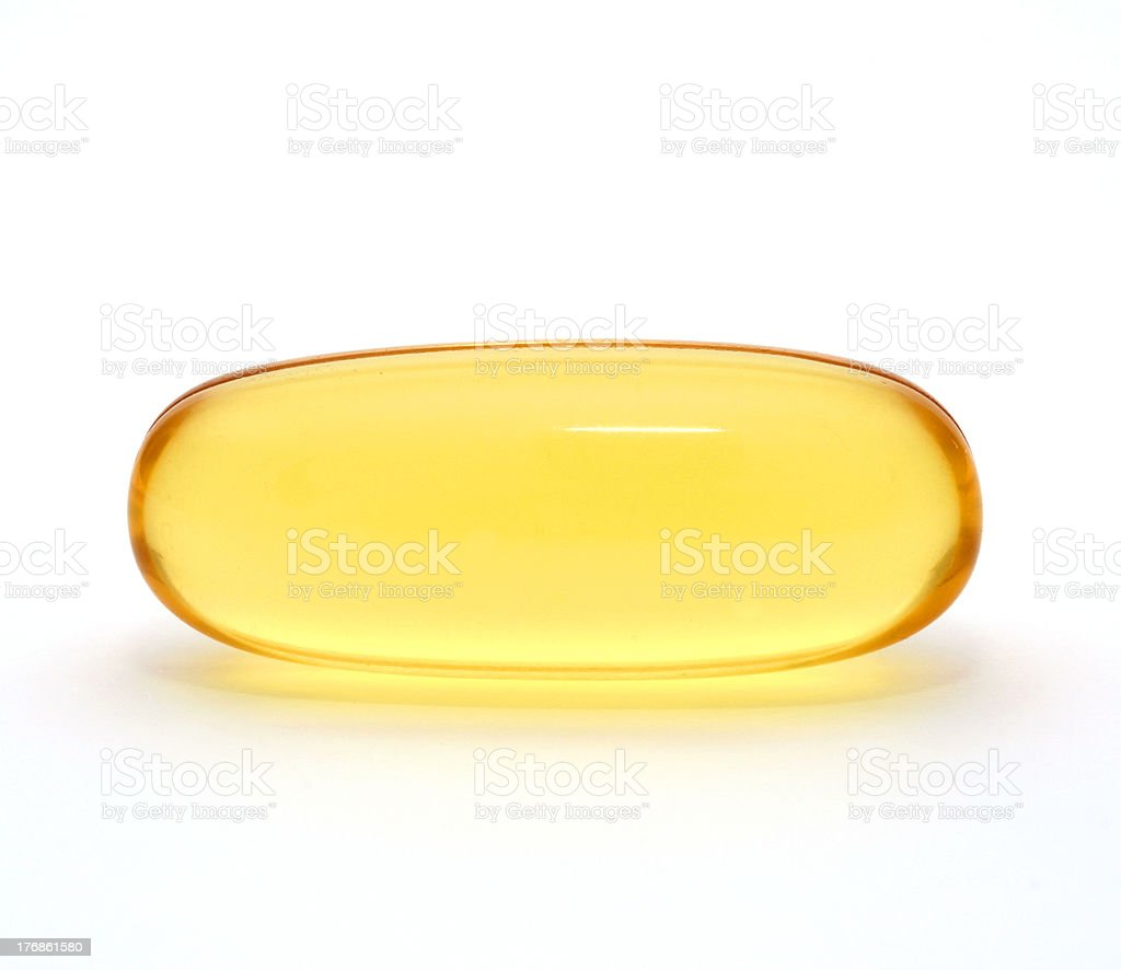 Macro of Gel capsule royalty-free stock photo