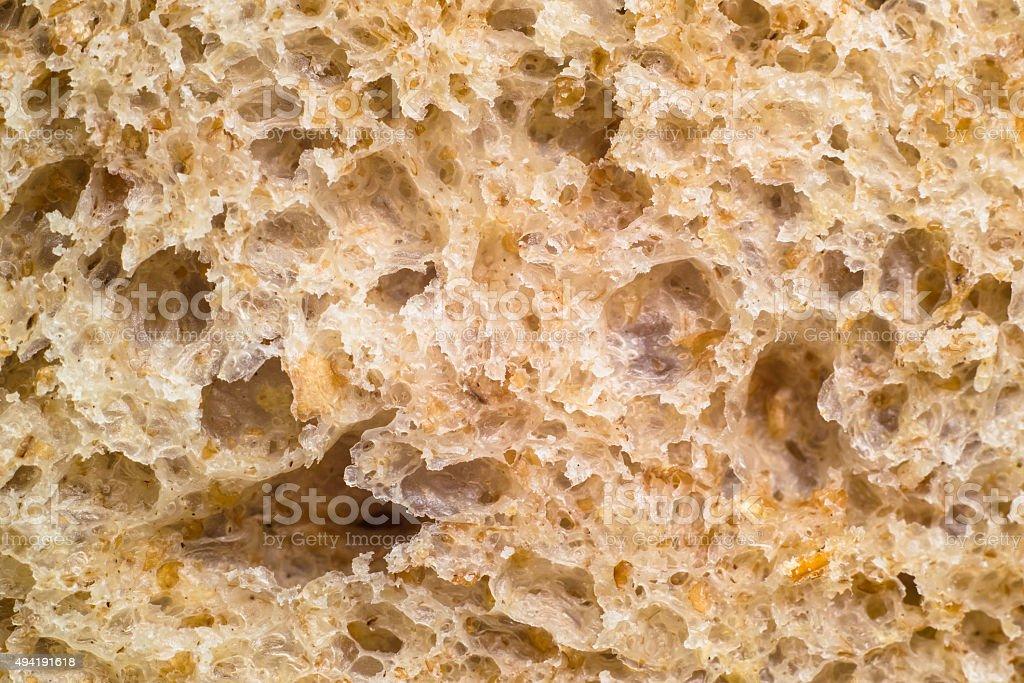 Macro of graham bread texture stock photo