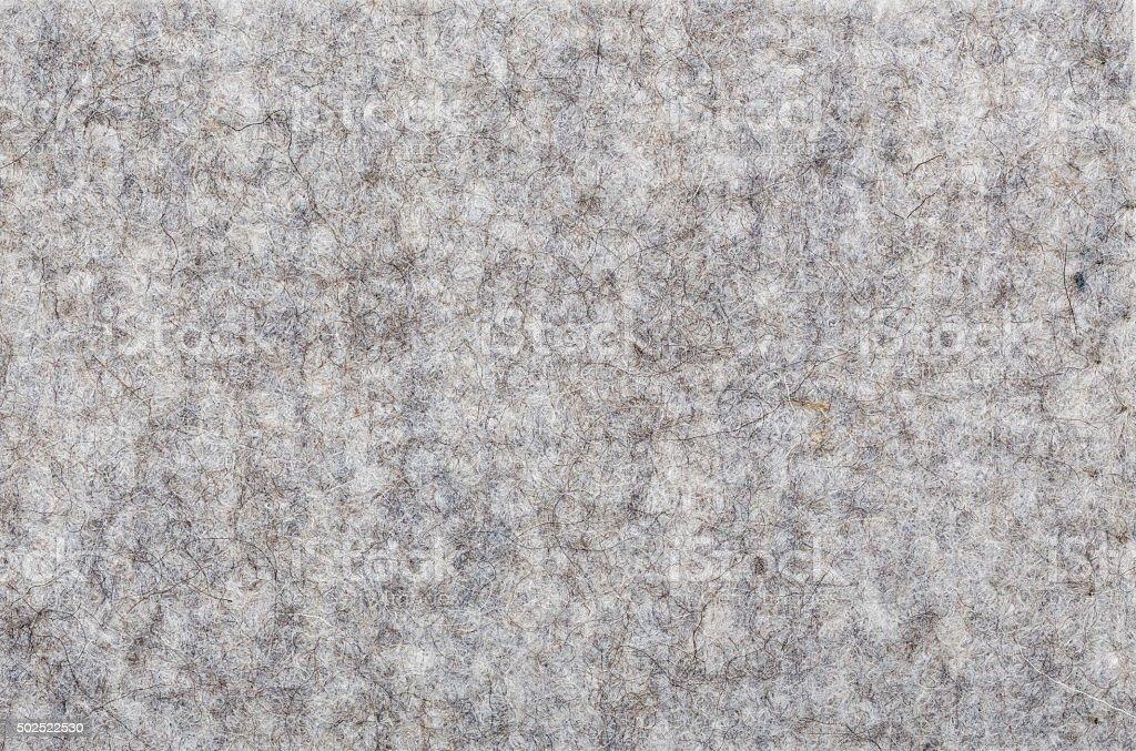 macro of grey felt texture for backgrounds stock photo