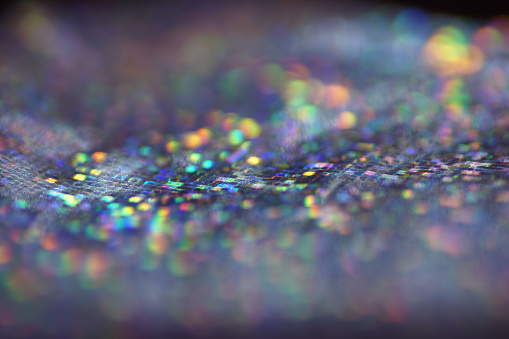 Macro Of Holographic Paper Abstract Bokeh Light Stock ...