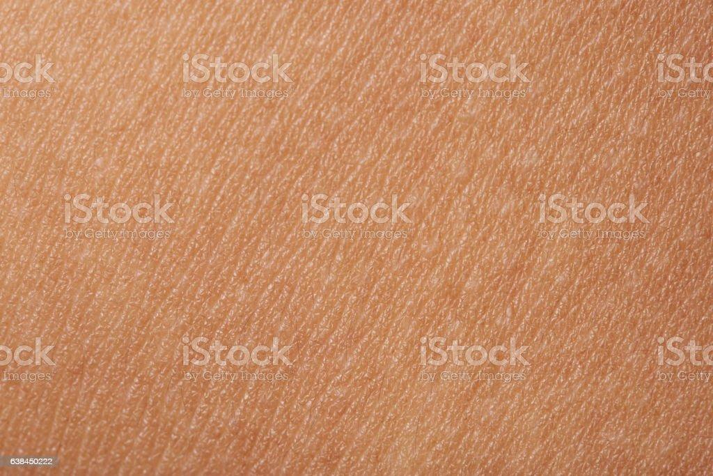 Macro of human skin stock photo