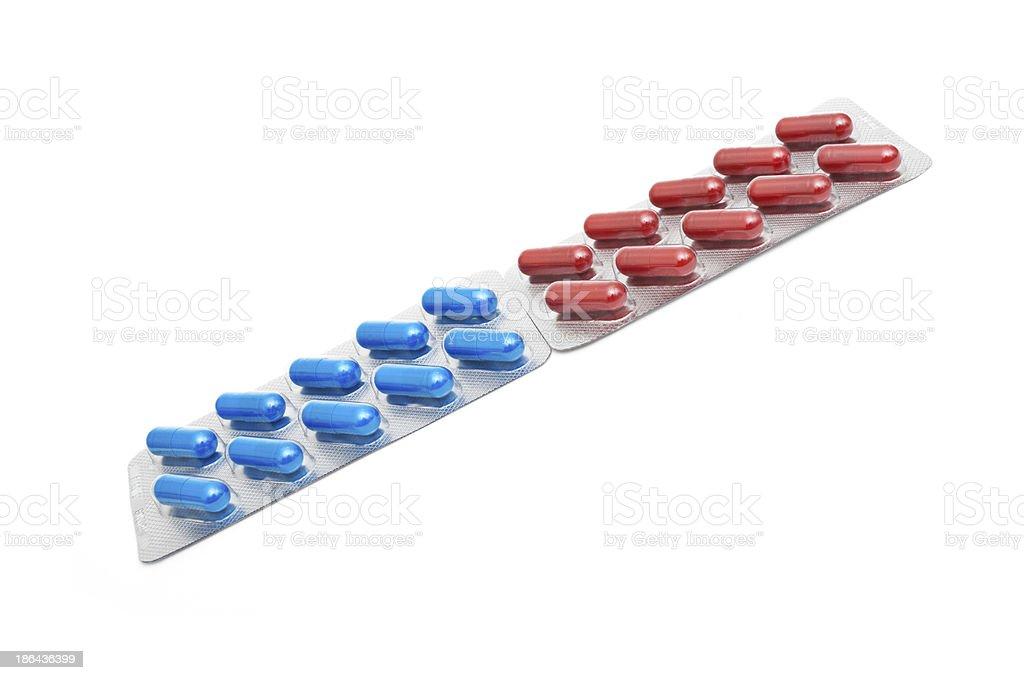 macro of medical pills isolated on white background royalty-free stock photo