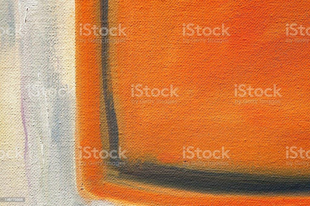 Macro of Orange and White Oil Painting royalty-free stock photo