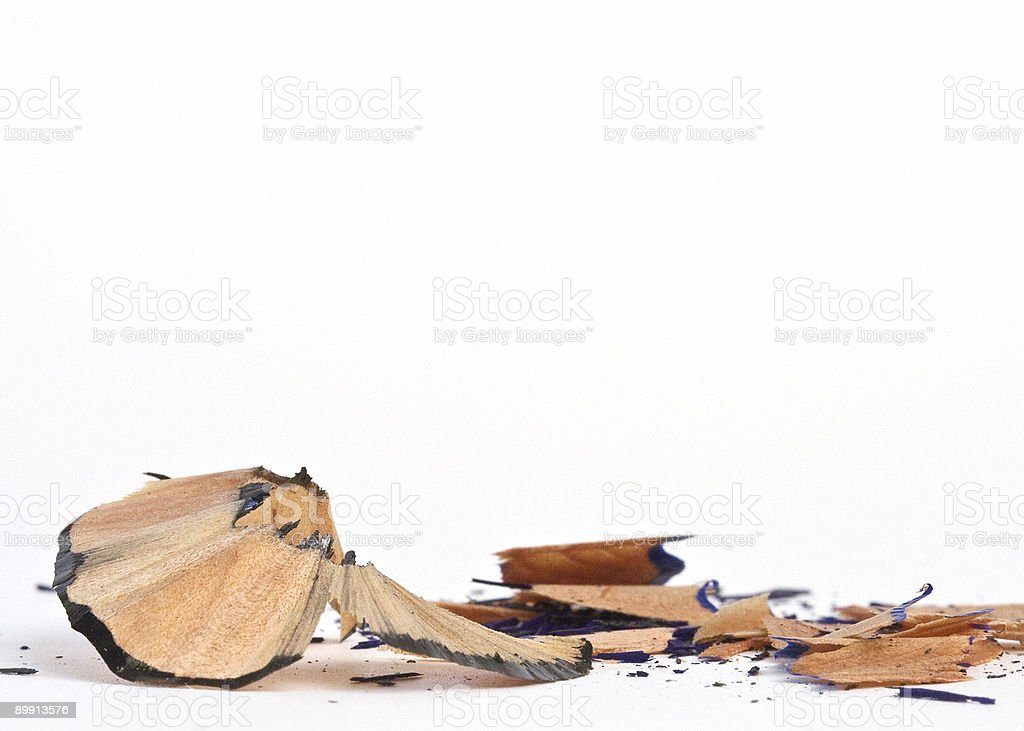 Macro of Pencil Shavings royalty-free stock photo